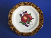 Maling 'Plum and Orchard' Pattern 3948 Octagonal Plate c1929 #1